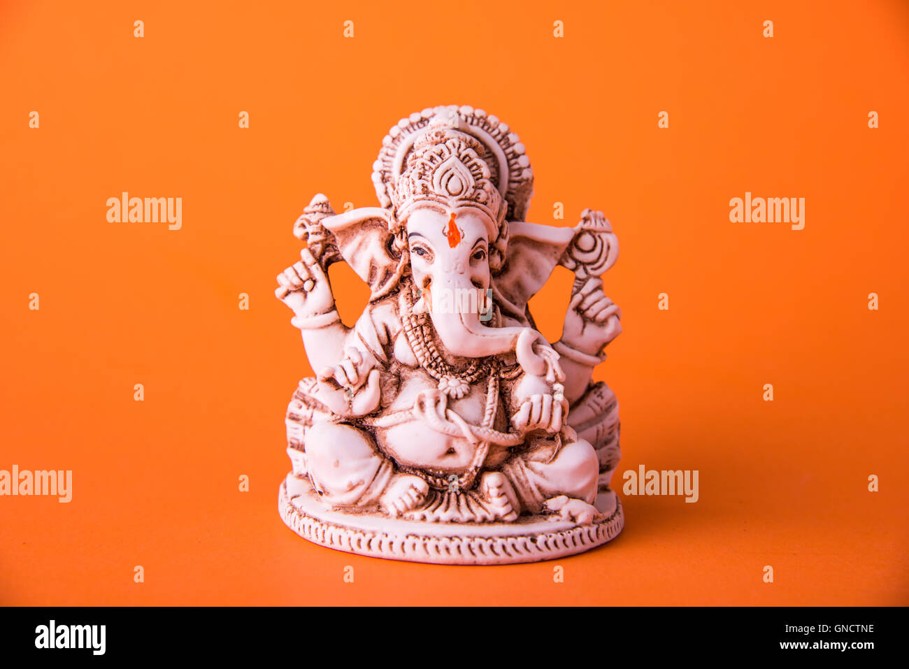 Happy Ganesh Chaturthi Greeting Card Showing Photograph Of Lord