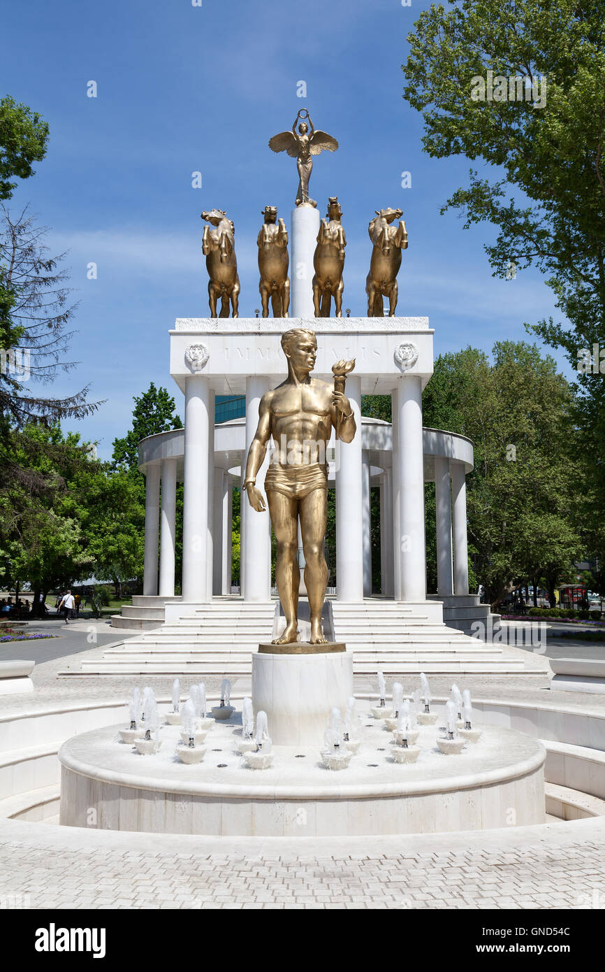 Monument to the Fallen Heroes of Macedonia, Skopje - Stock Image