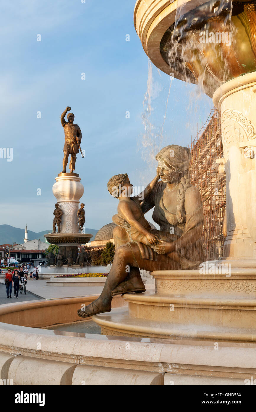Details of statues in the city centre of Skopje, Macedonia - Stock Image
