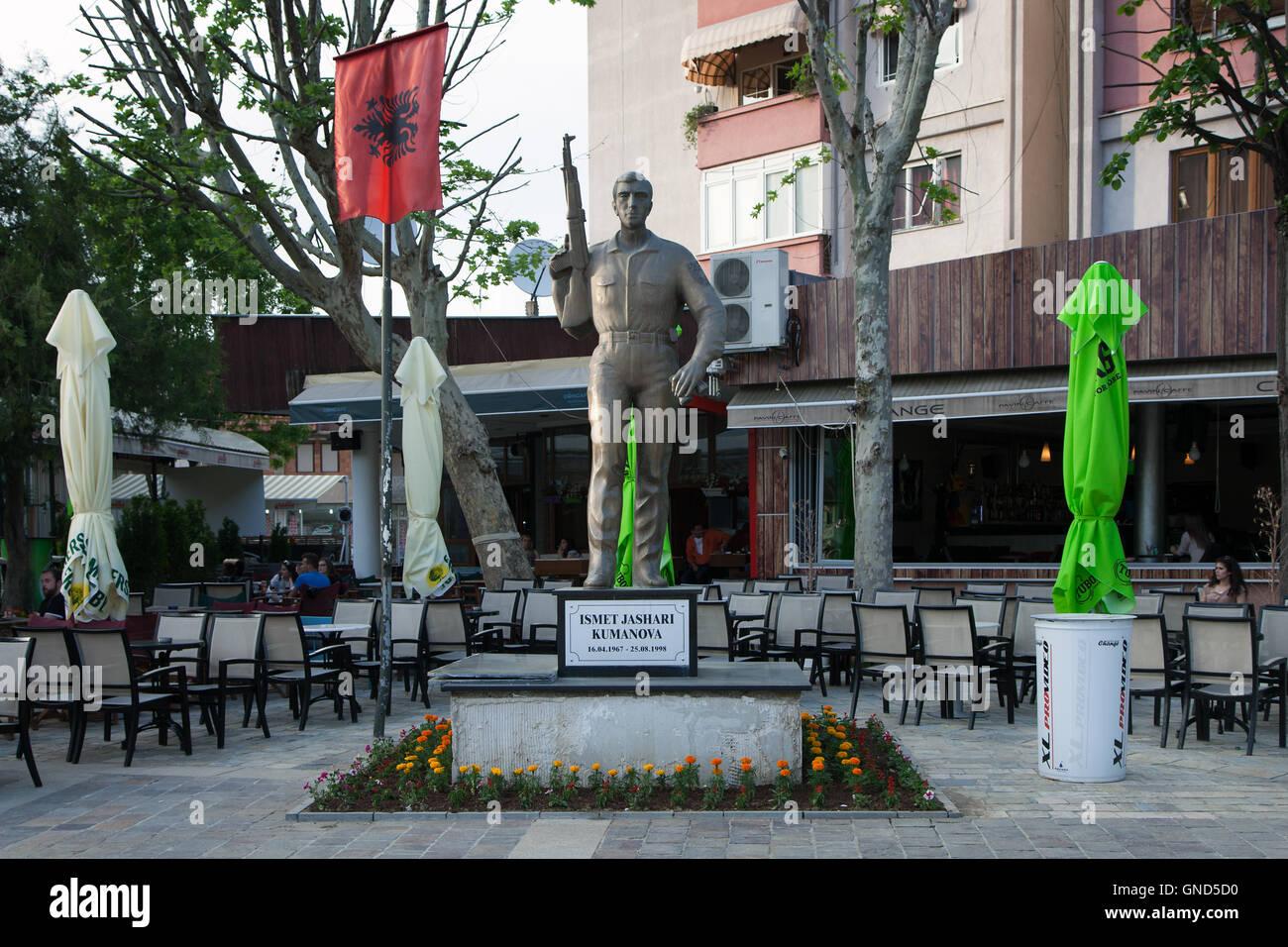 Prizren, Kosovo - May 6, 2015 : UCK memorial to Ismat Jashari Kumanoca, victim of Kosovo war Stock Photo