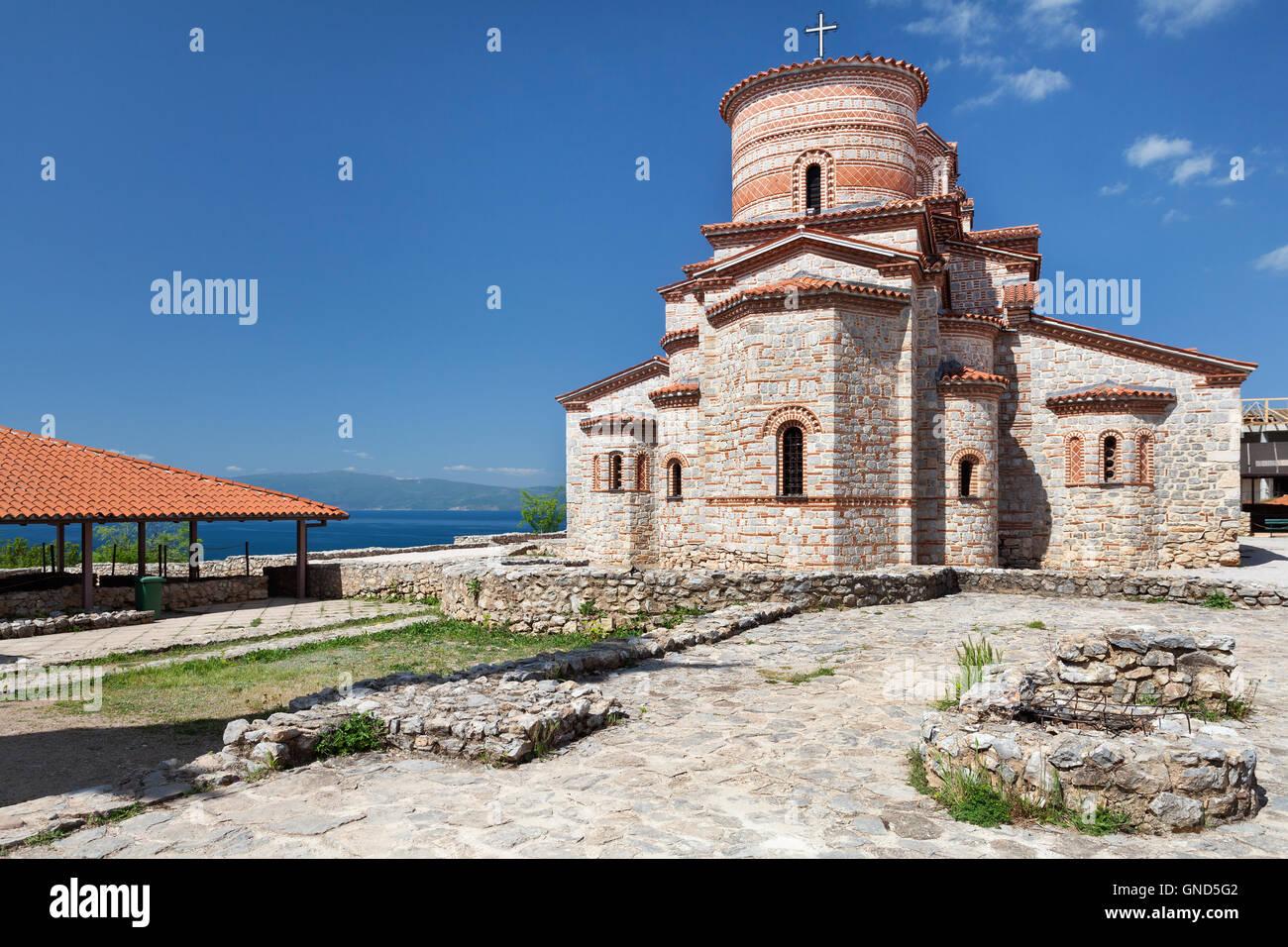 Saint Panteleimon monastery in Ohrid, Macedonia - Stock Image