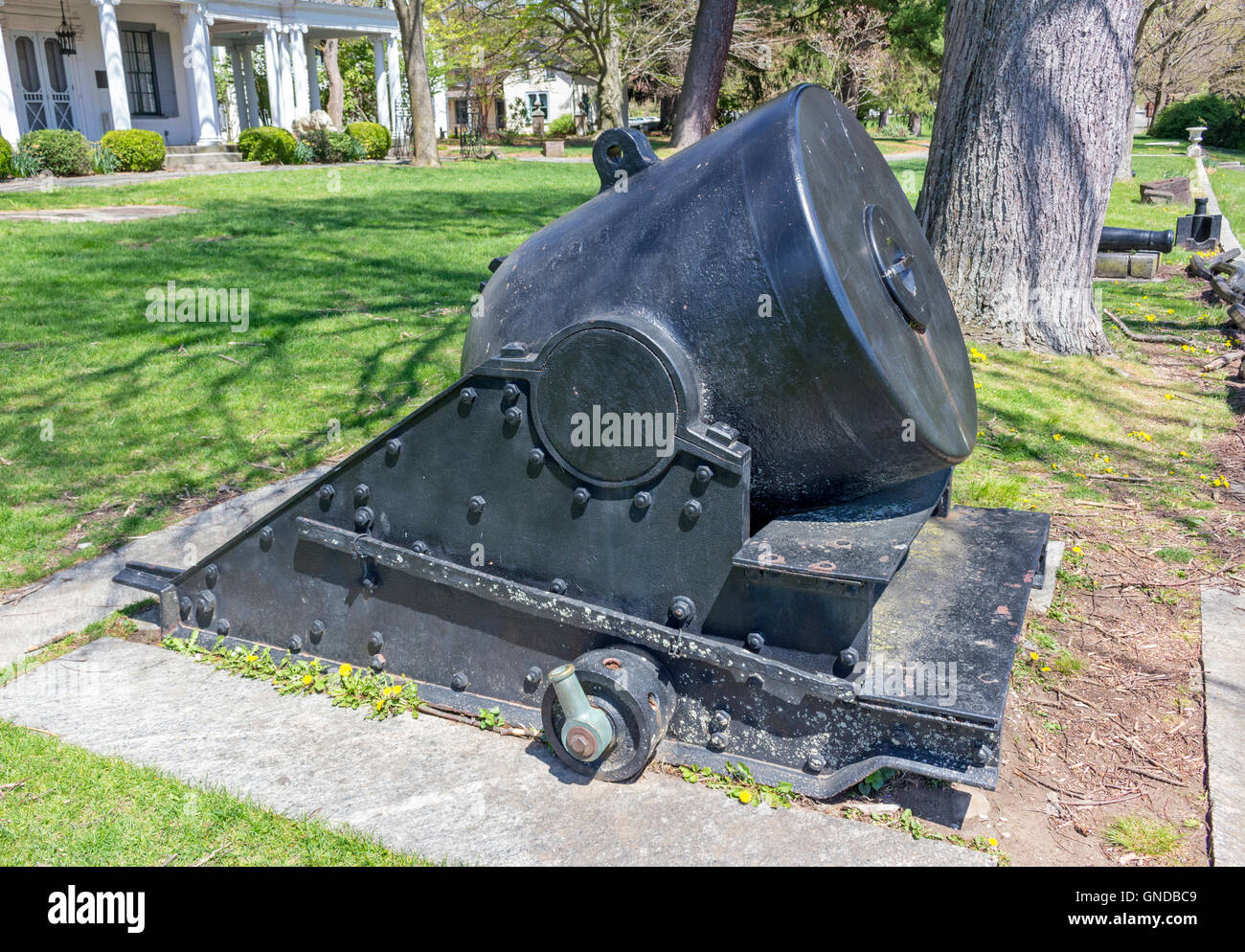 American Forged Cannon from Fort Pitt, PA 1861. Stock Photo