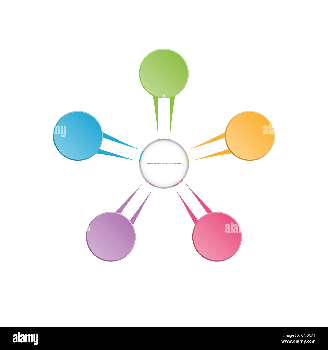 infographic template colourful in the form of flower petals for five position steps and text area