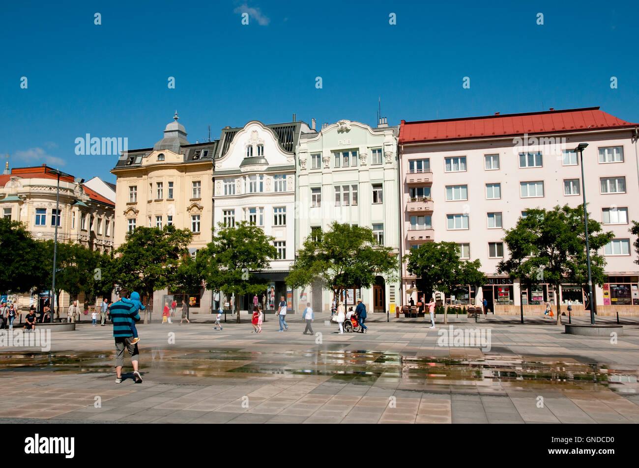 Masaryk Square - Ostrava - Czech Republic - Stock Image