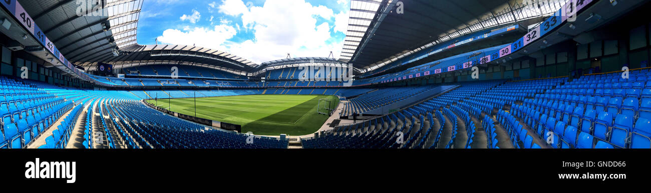 Etihad Stadium, Manchester, UK. - Stock Image