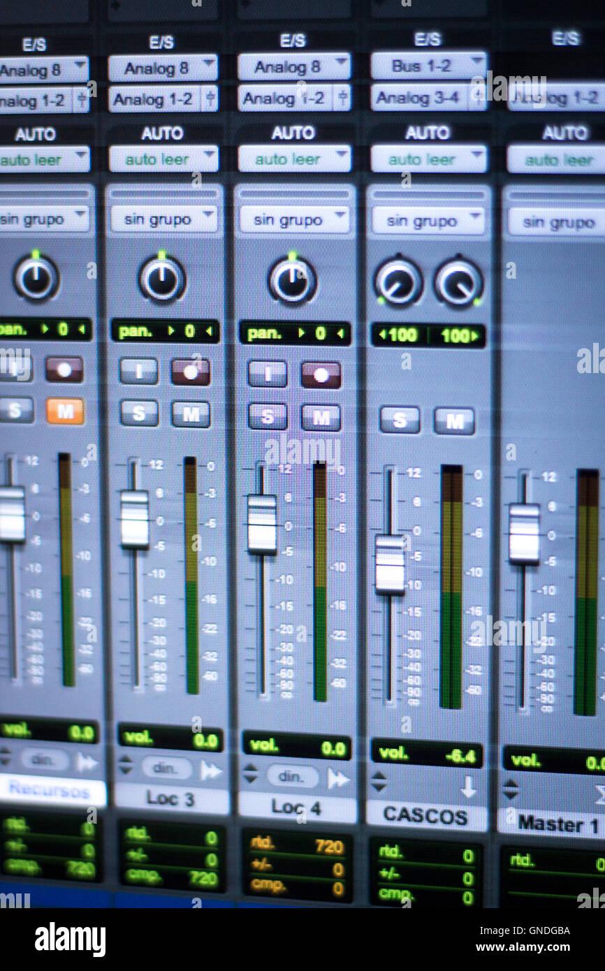 Professional sound recording audio studio digital equipment