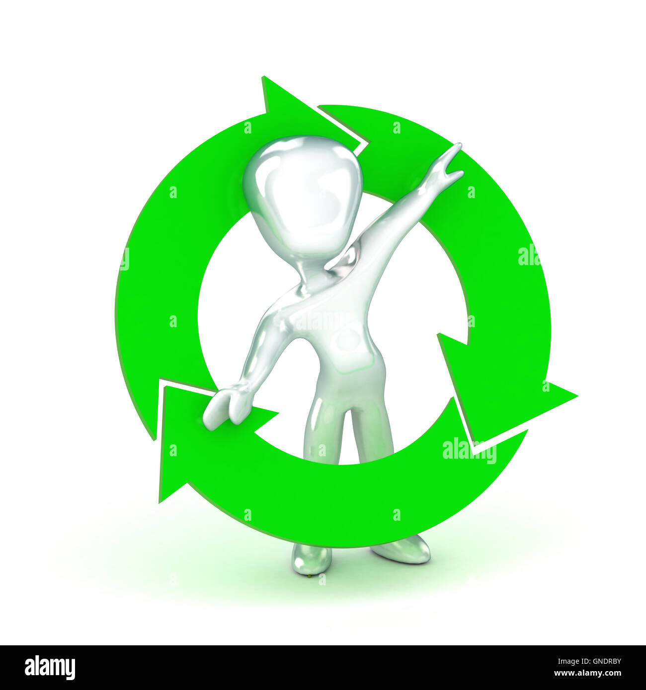Recycle Man - Stock Image