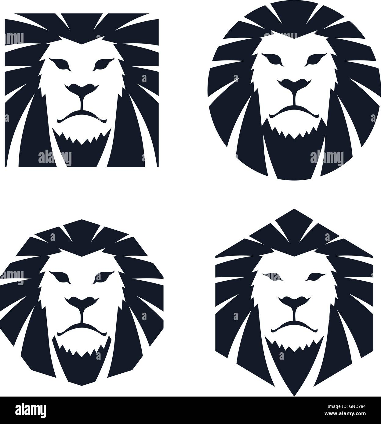 lion head template stock vector art illustration vector image