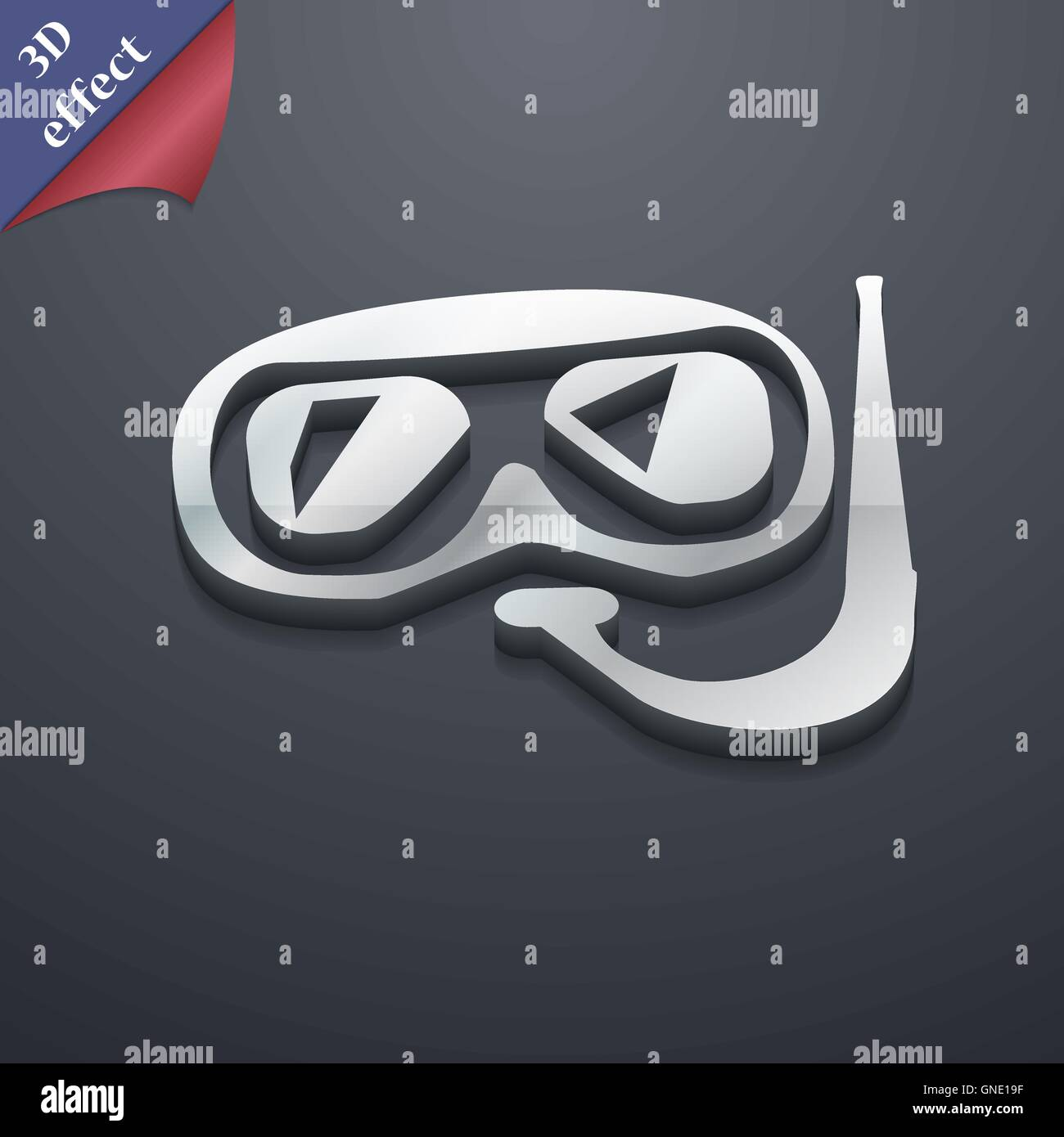 Diving icon symbol. 3D style. Trendy, modern design with space for your text Vector - Stock Vector