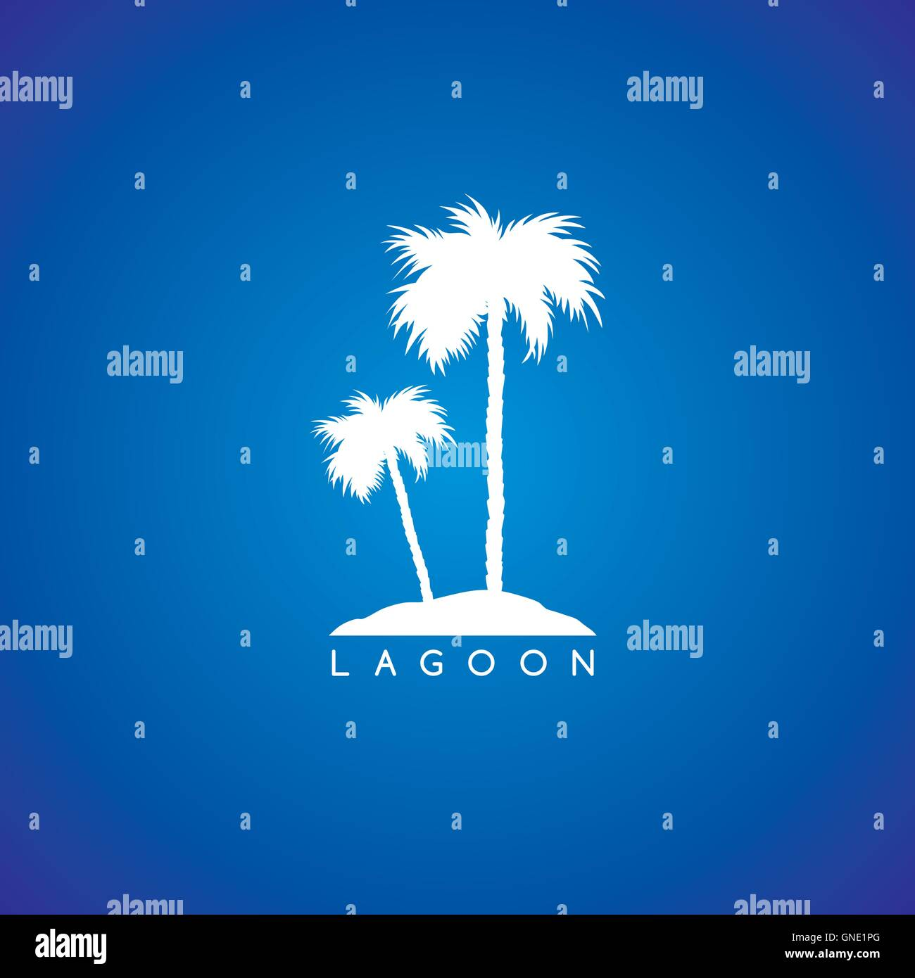 seaside beach theme logo - Stock Vector