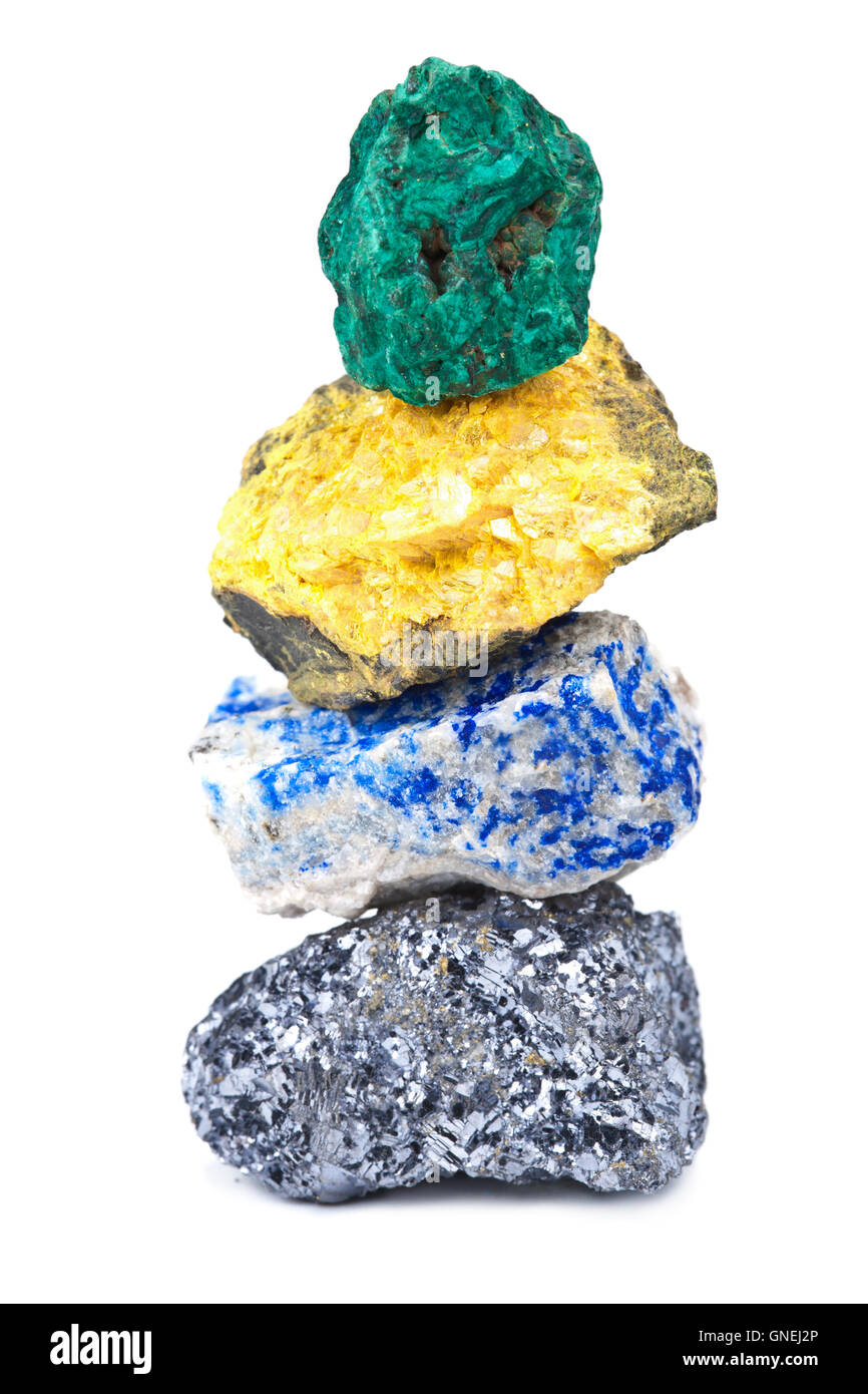 minerals isolated - Stock Image