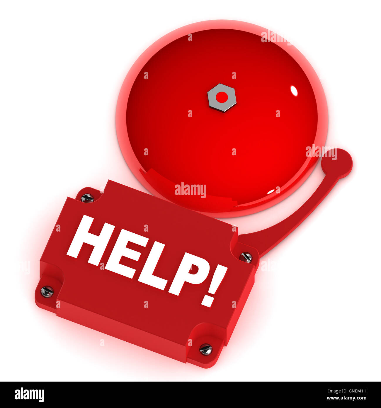 Help Alarm Bell - Stock Image