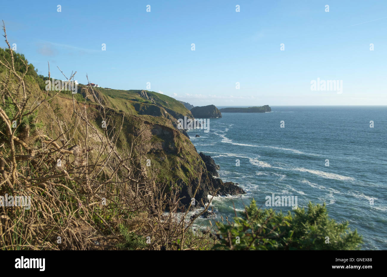 The most Southerly Point , The Lizard Cornwall England - Stock Image