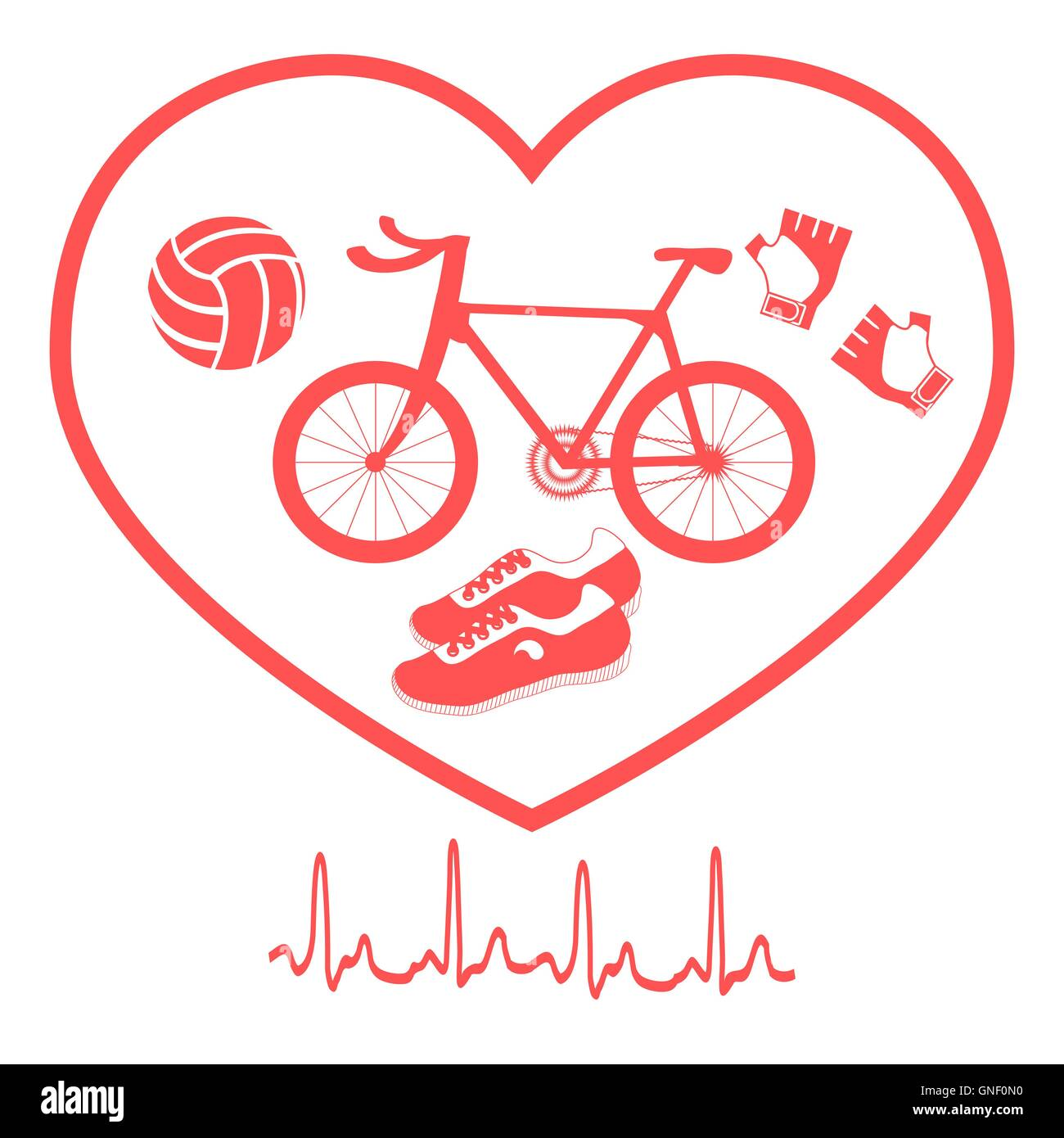 Bike Love Stock Vector Images Page 3 Alamy