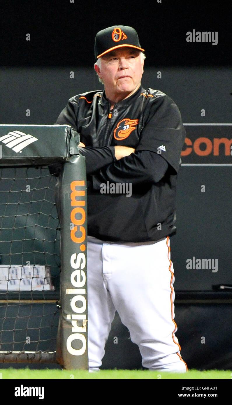 d442bf7aacb Baltimore Orioles Manager Buck Showalter Stock Photos   Baltimore ...