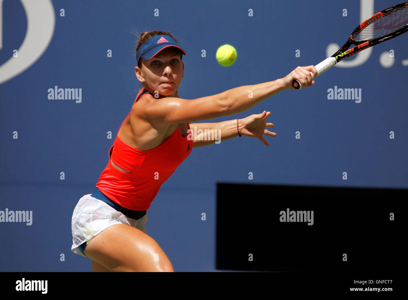 Simona Halep Stock Photos Images Alamy Blue Top New York Usa 30th August 2016 Of Romania During Her
