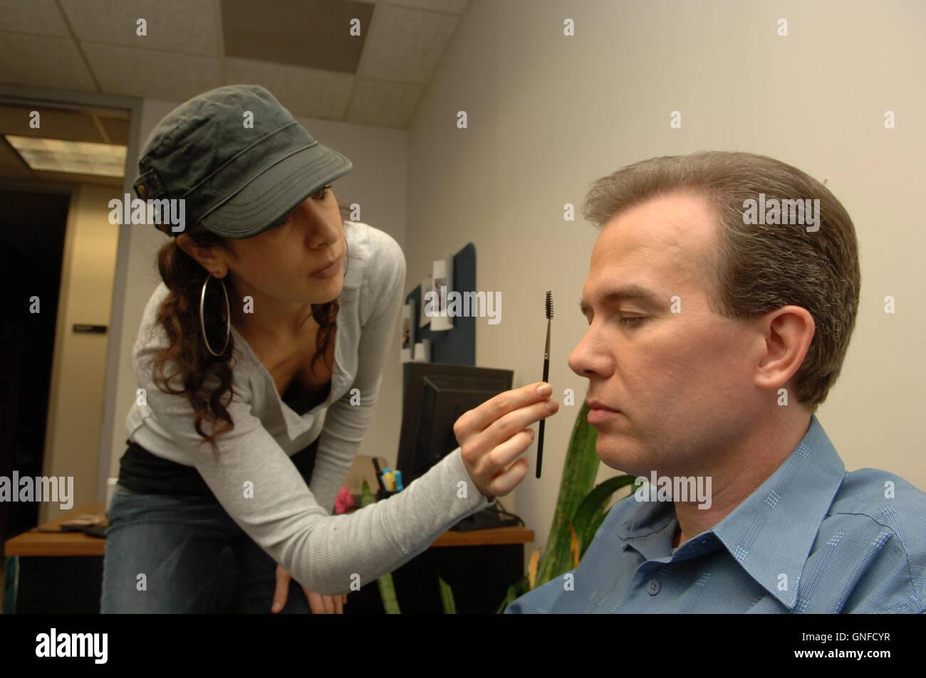 Atlanta Ga Usa 17th Aug 2007 John Mark Karr Is Prepped By Makeup Stock Photo Alamy