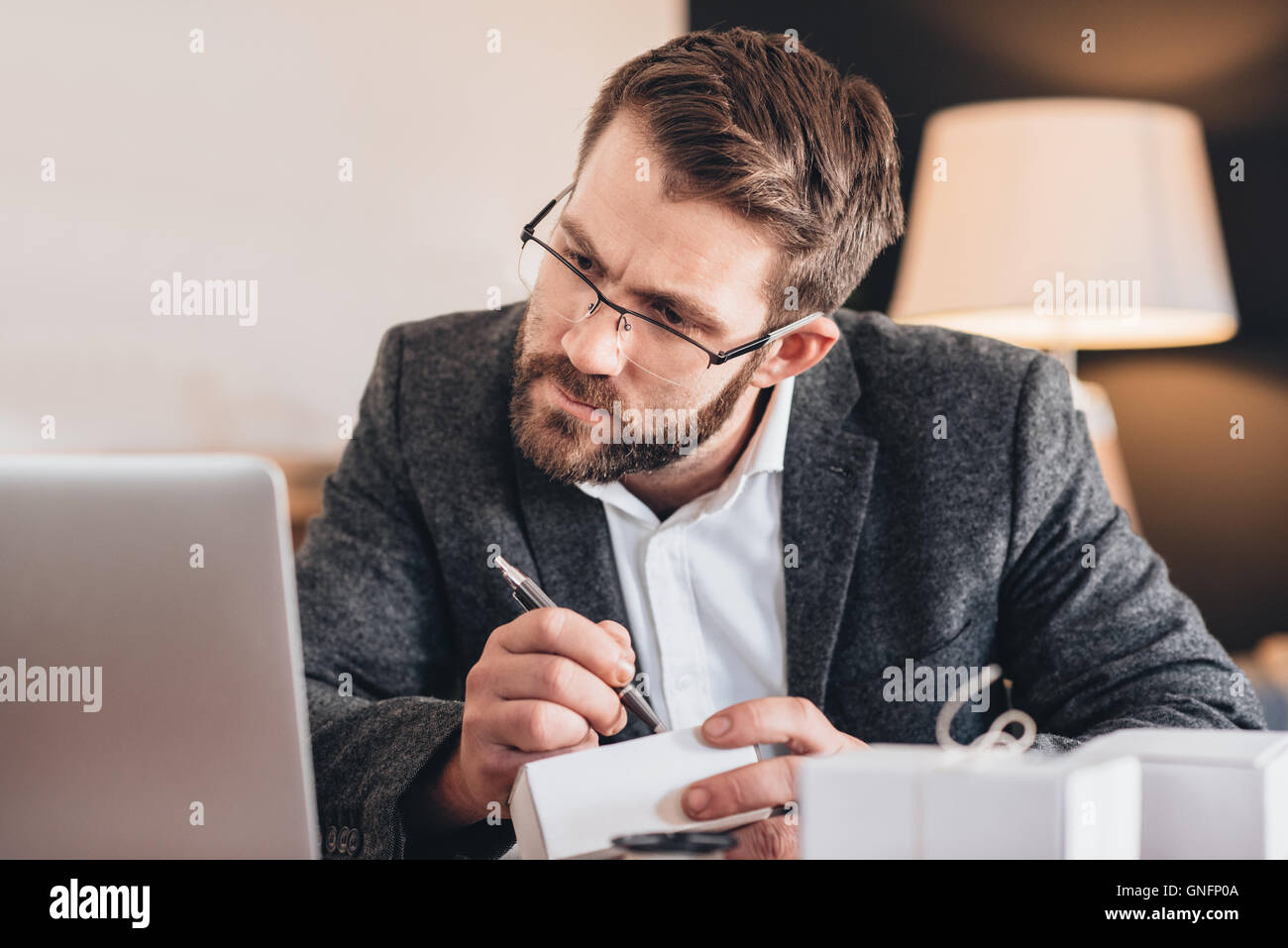Making sure every detail is correct - Stock Image