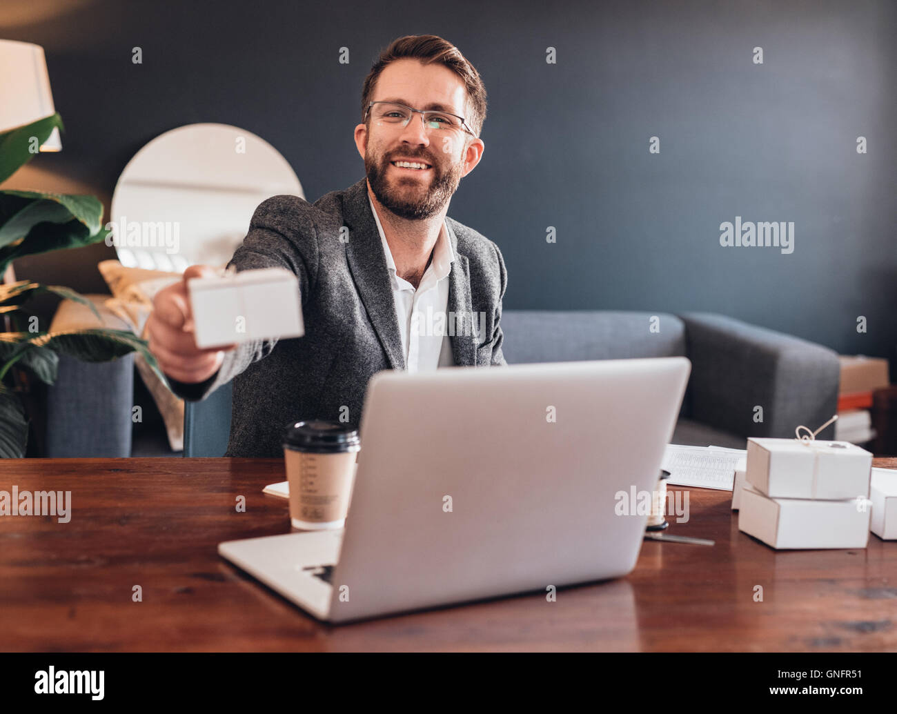 Big things come in small packages Stock Photo