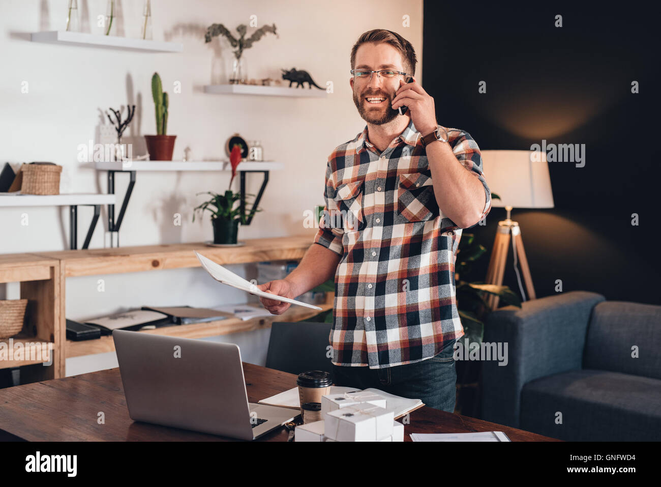 Let's get these orders to customers - Stock Image