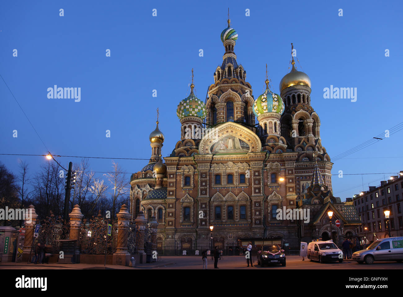 Church of the Savior on Blood in St.Petersburg, Russia - Stock Image