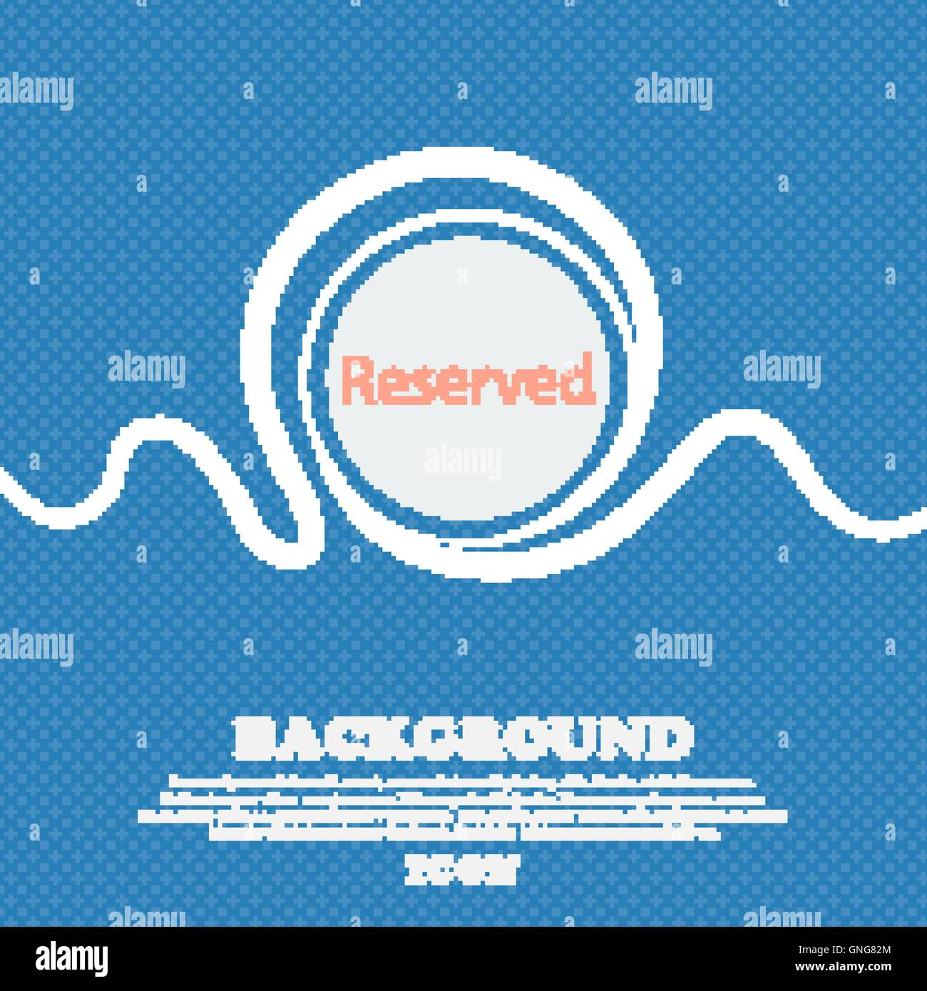Reserved sign icon. Blue and white abstract background flecked with space for text and your design. Vector - Stock Image