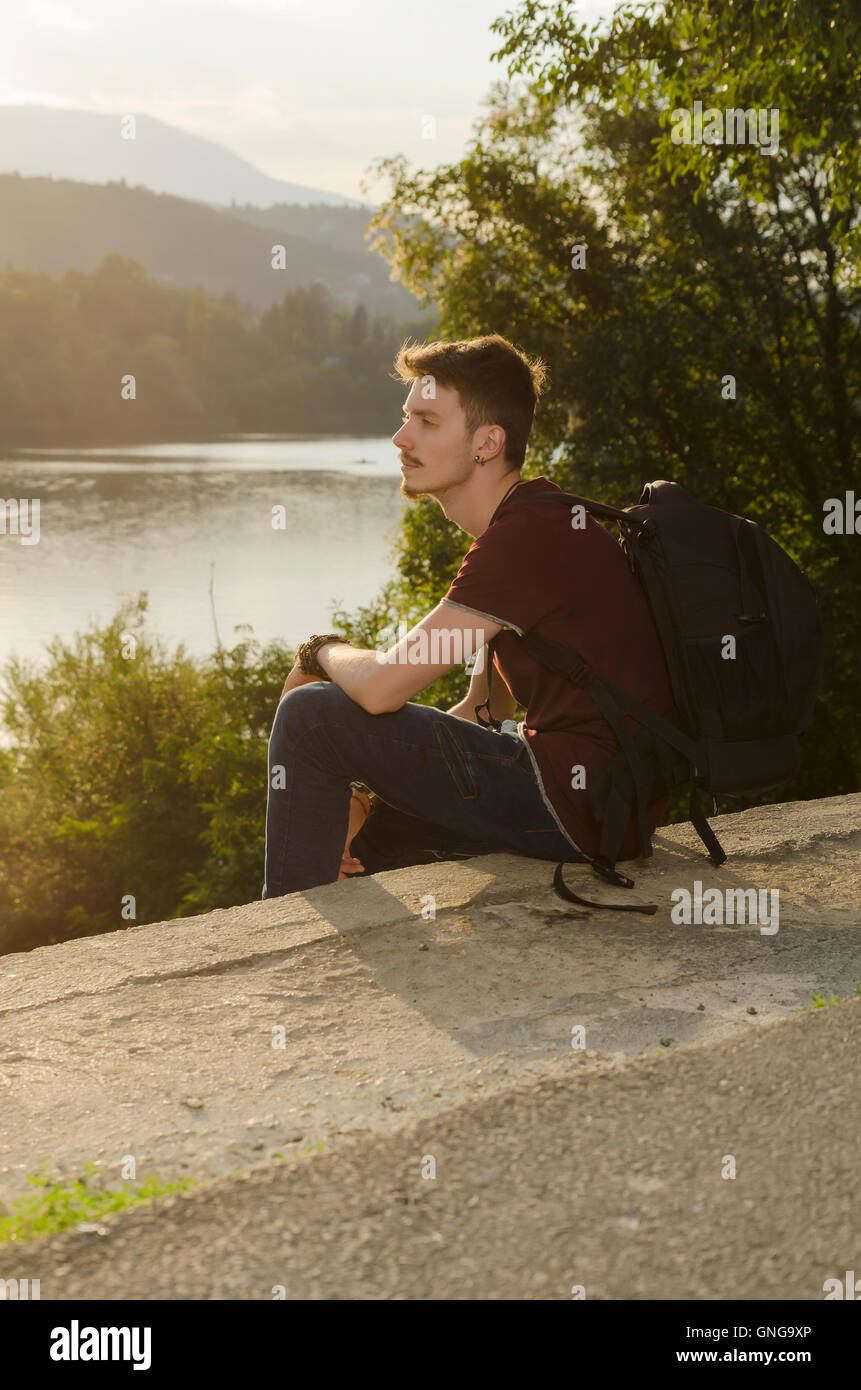 Leisure time on a lake - Stock Image