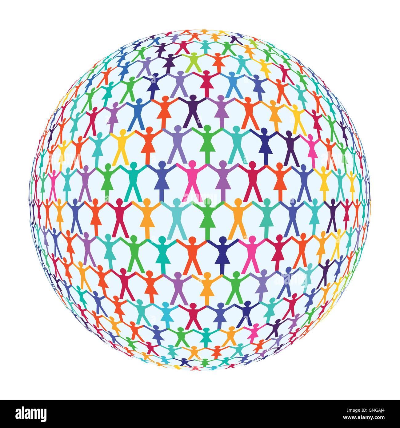 international population - Stock Image