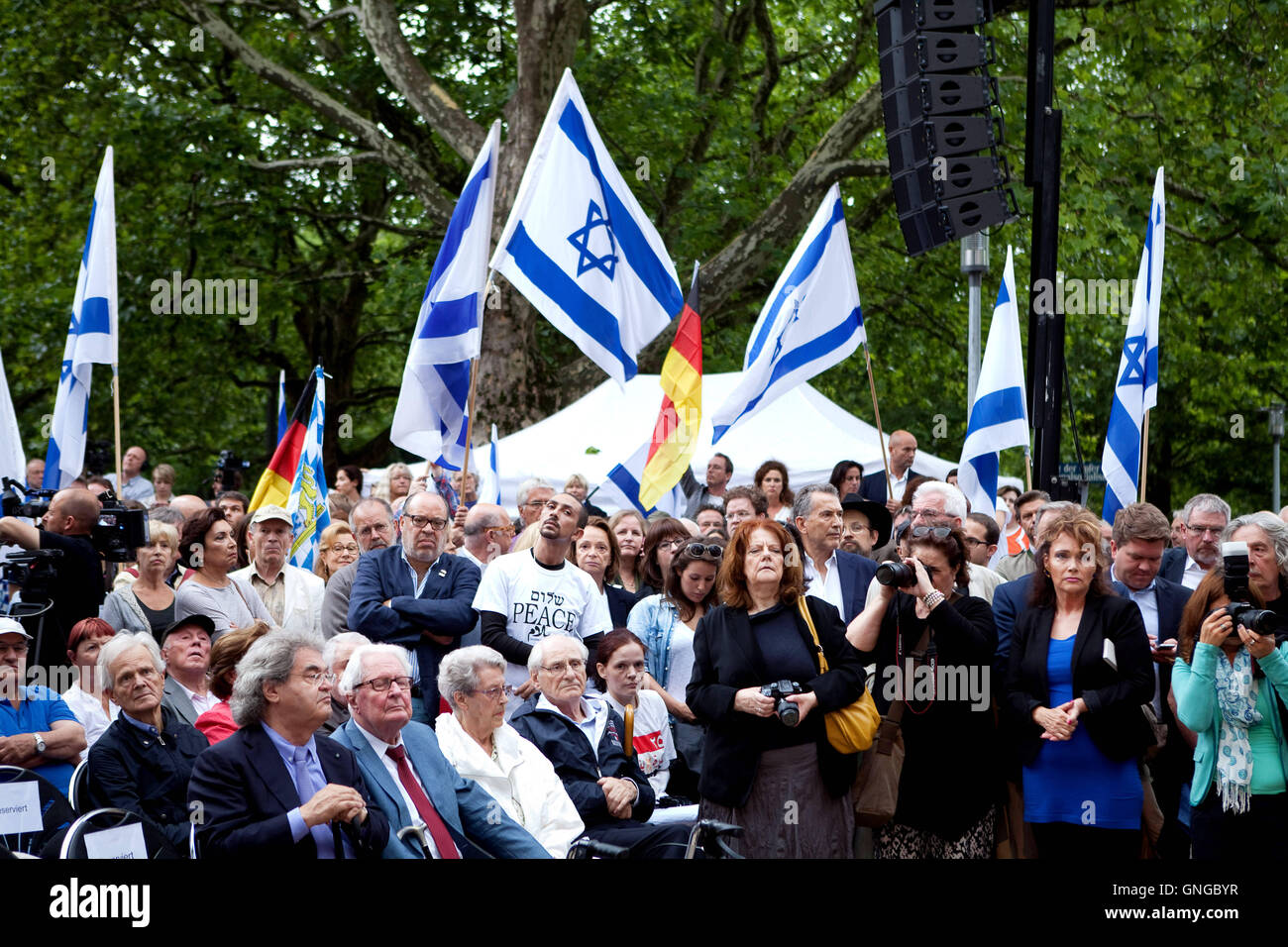 Rally against anti-Semitism in Munich, 2014 - Stock Image