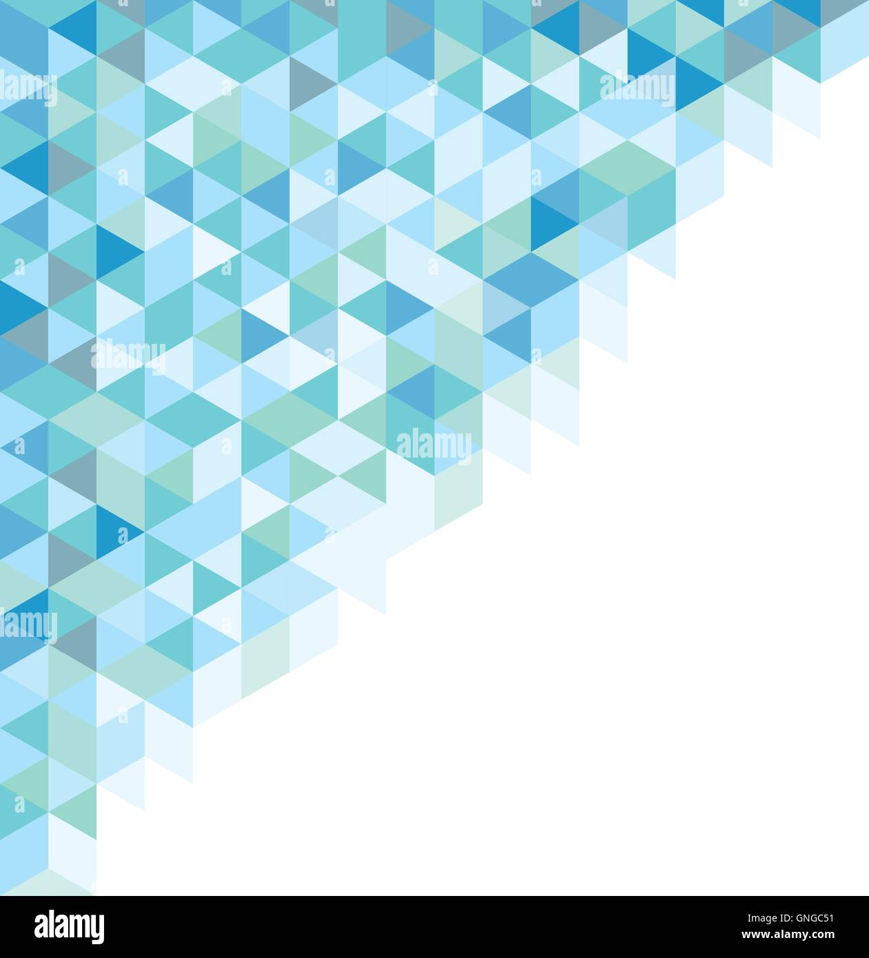 Abstraktes Symbol azul Stock Vector
