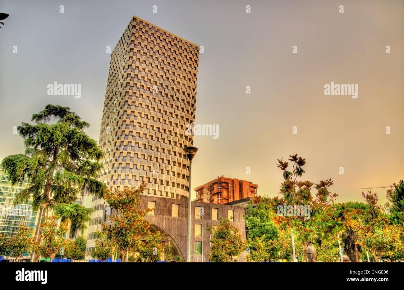 Buildings in the city centre of Tirana - Albania - Stock Image