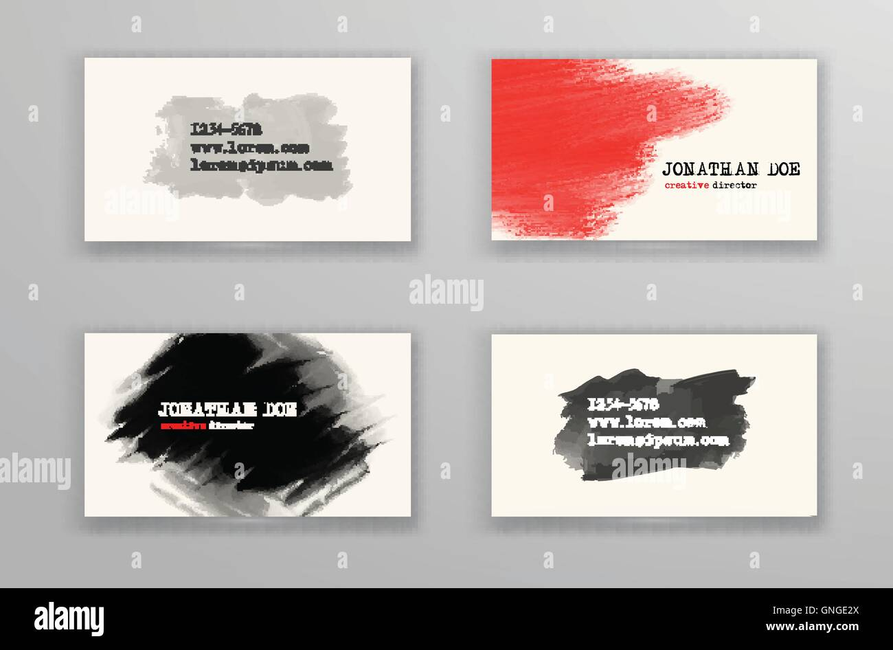 creative business card templates stock vector art illustration