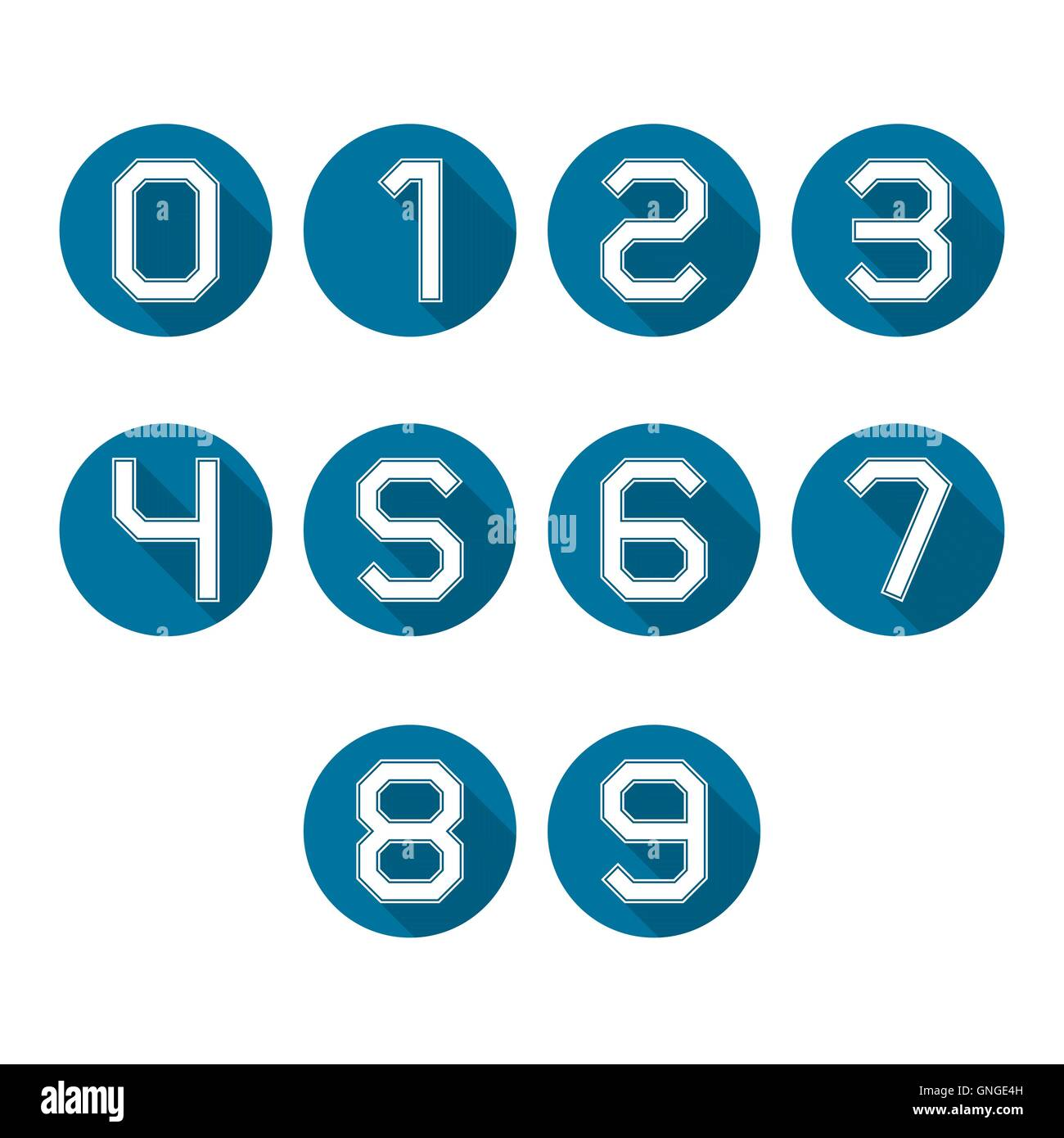 Icons numbers, vector illustration. - Stock Image