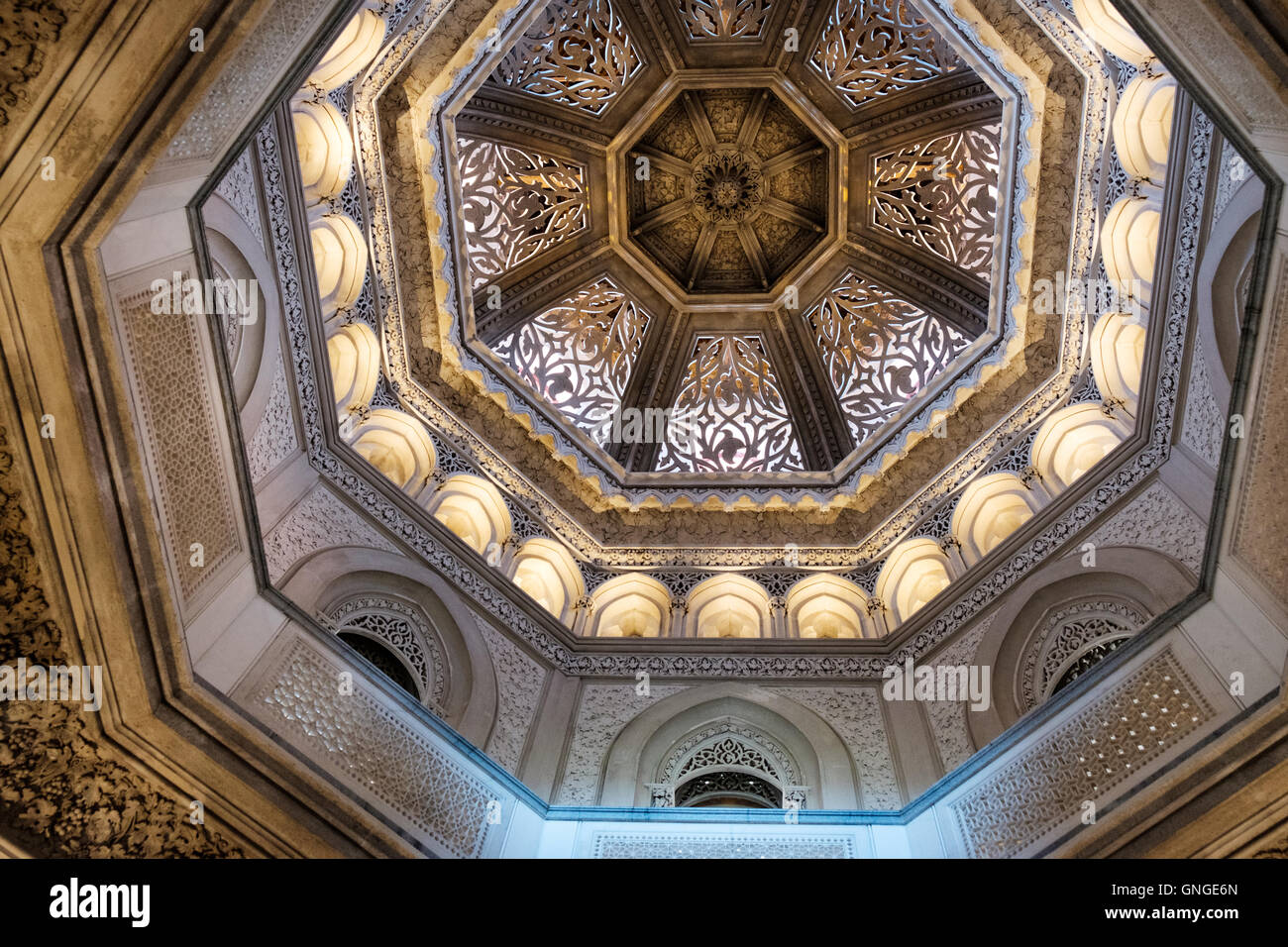 Interiors of the  Monserrate Palace near Sintra, Portugal - Stock Image