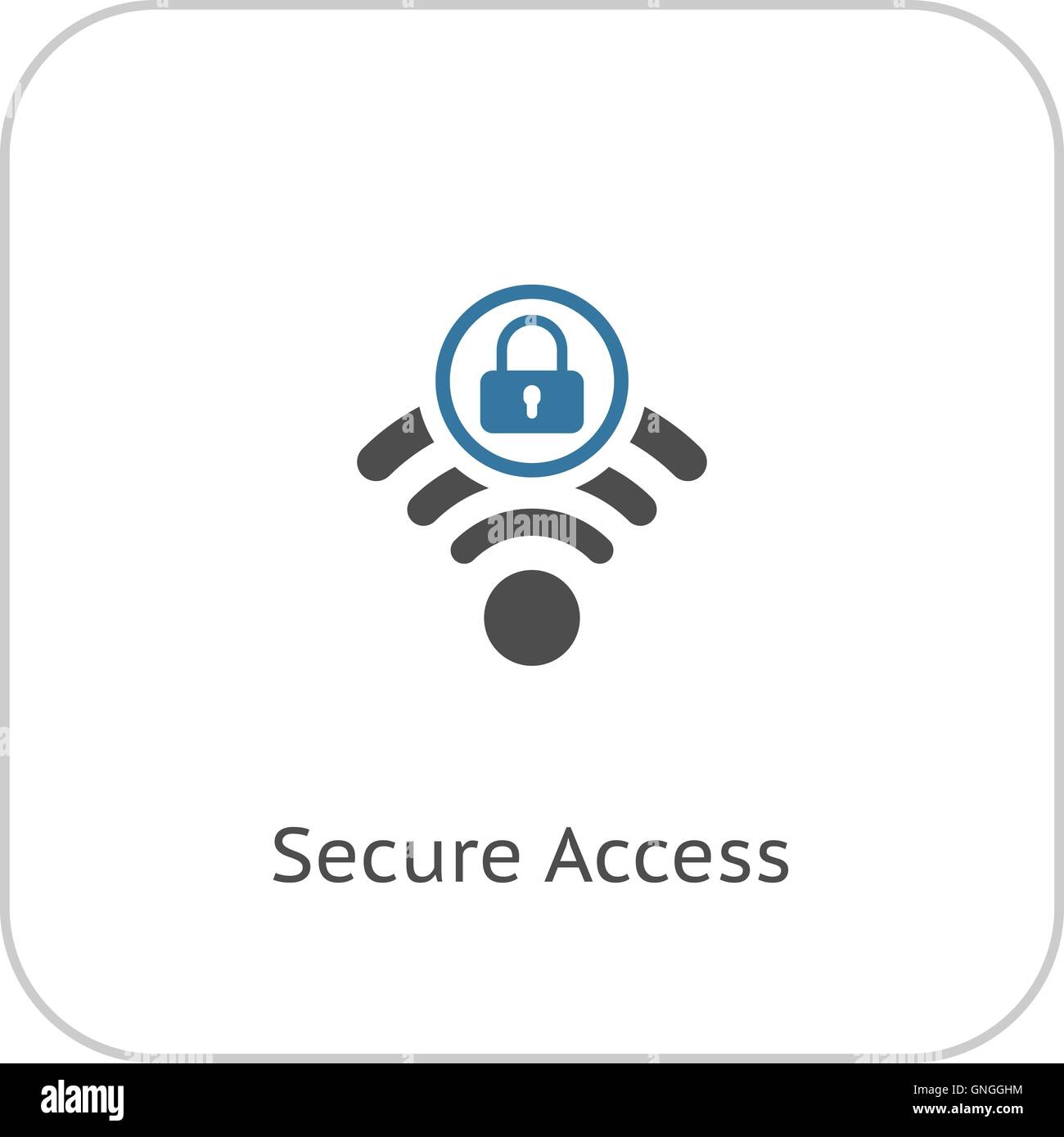 Secure Access Icon. Flat Design. - Stock Vector