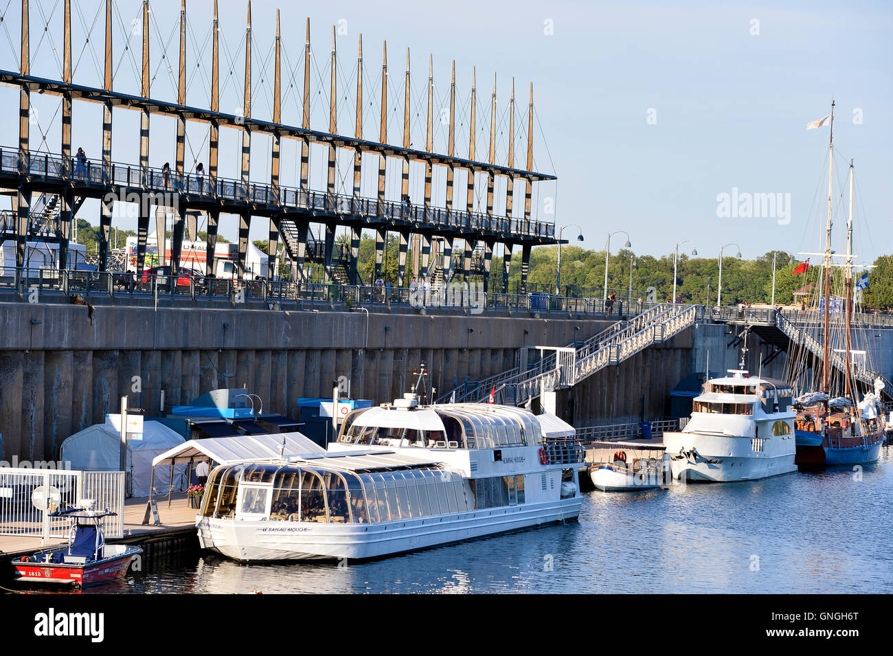 Old port of Montreal, canada - Stock Image