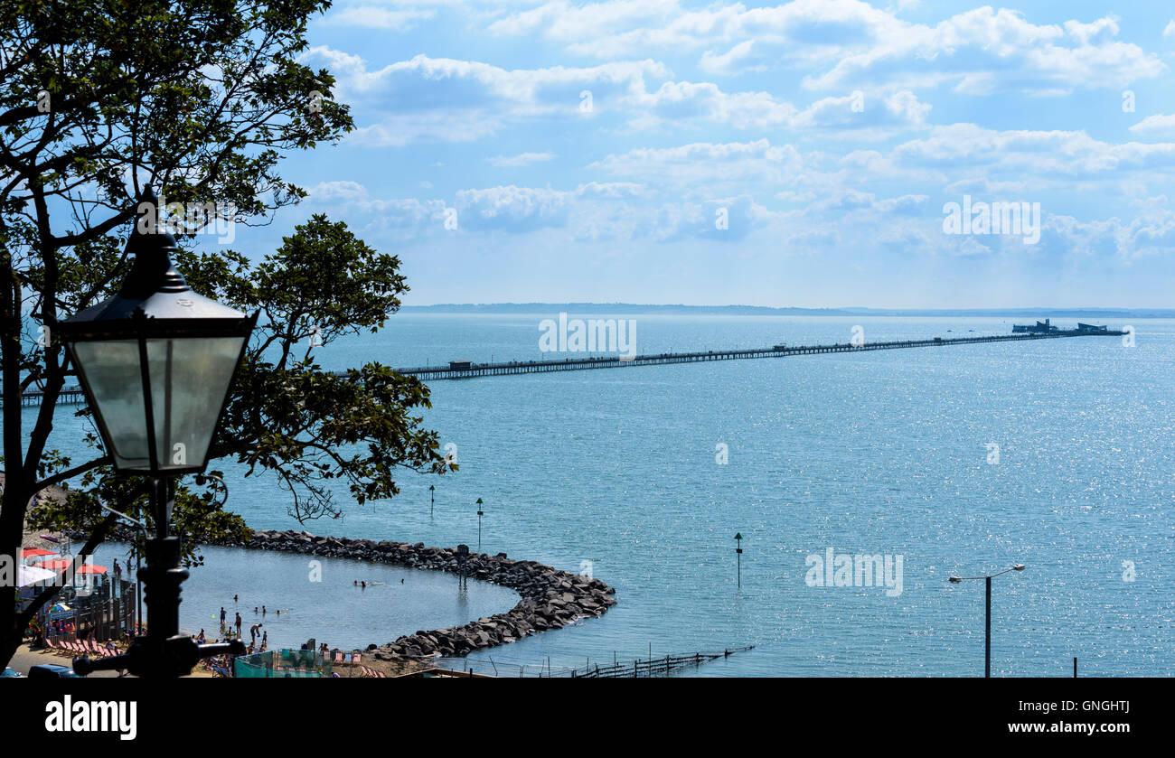 The new Lagoon at Three Shells Beach Southend on Sea. - Stock Image