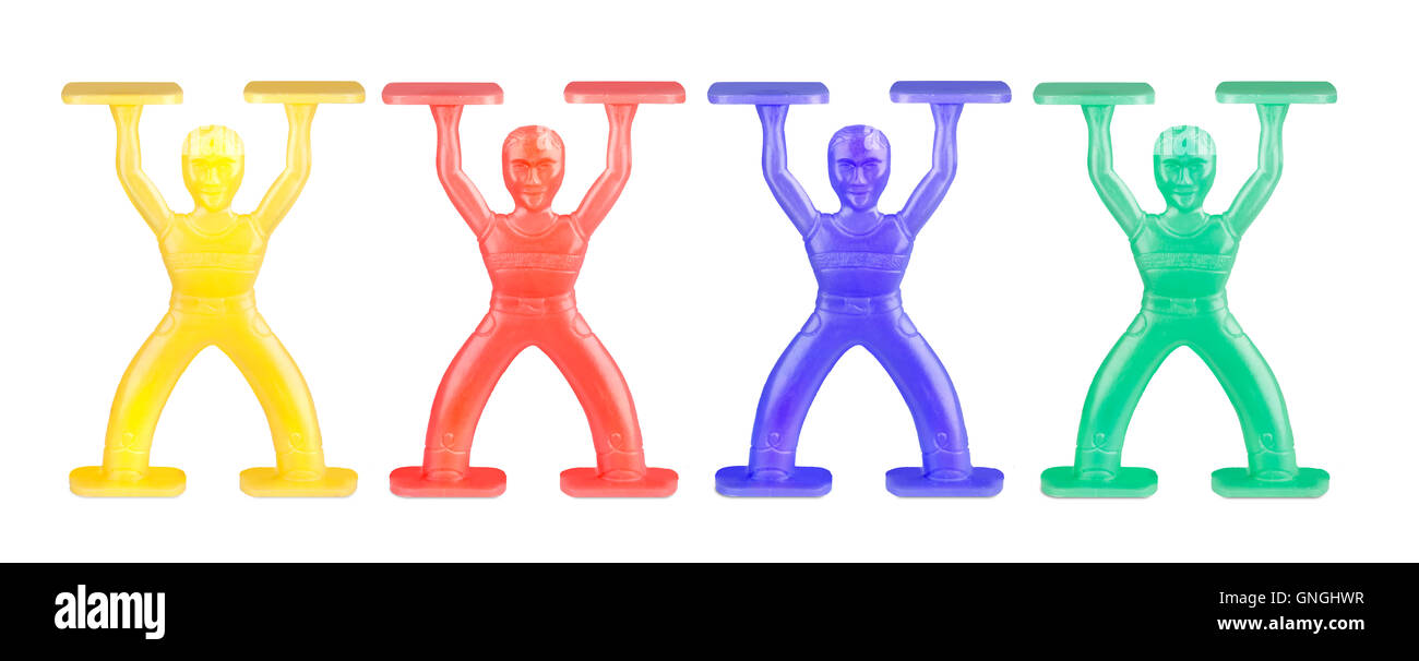 1960's Colorful stacking Man Toys - Stock Image