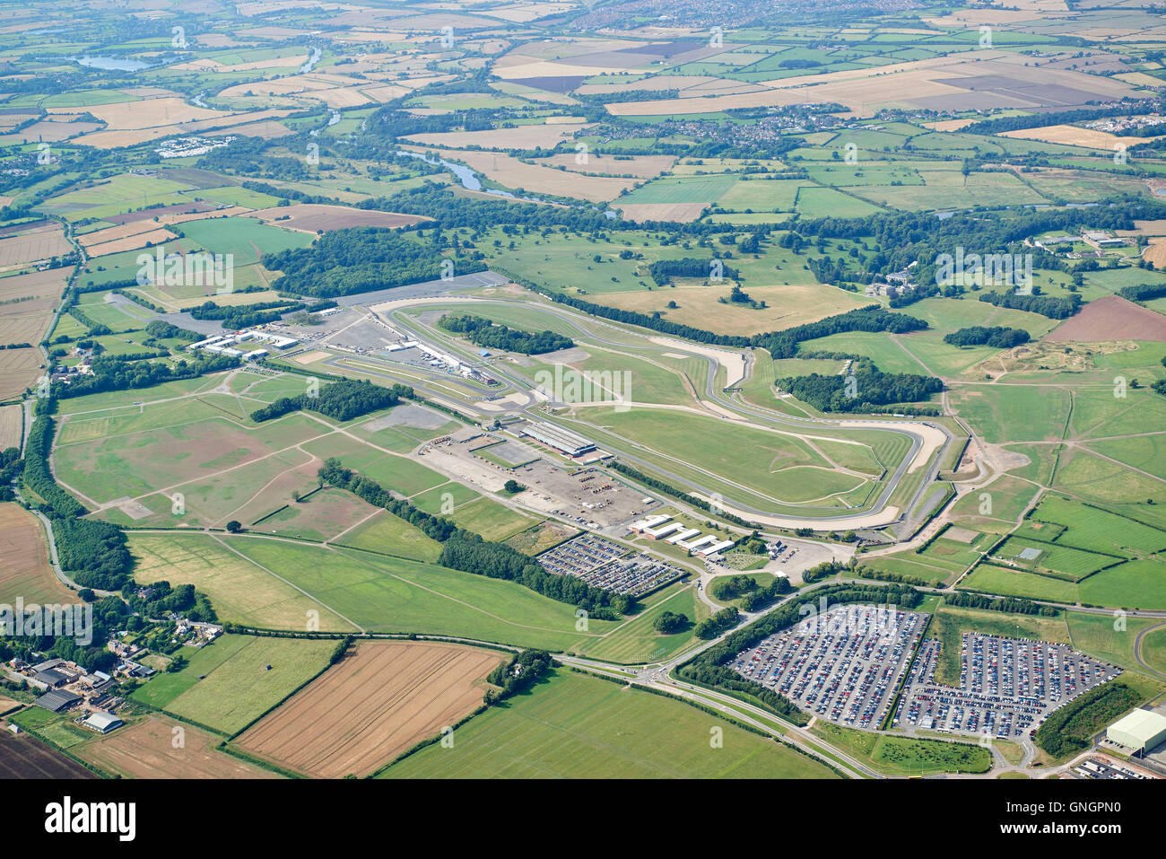 Donnington Park, Motor Racing Circuit, East Midlands, England, UK - Stock Image