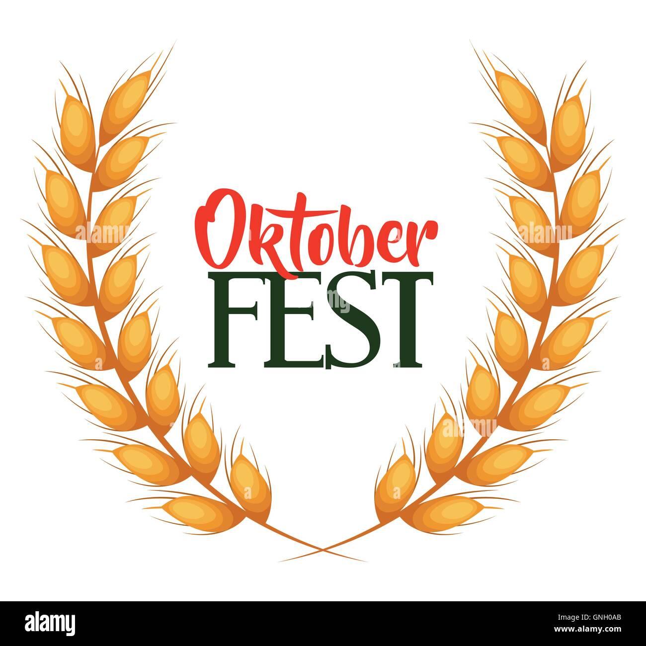 oktober fest invitation poster - Stock Image