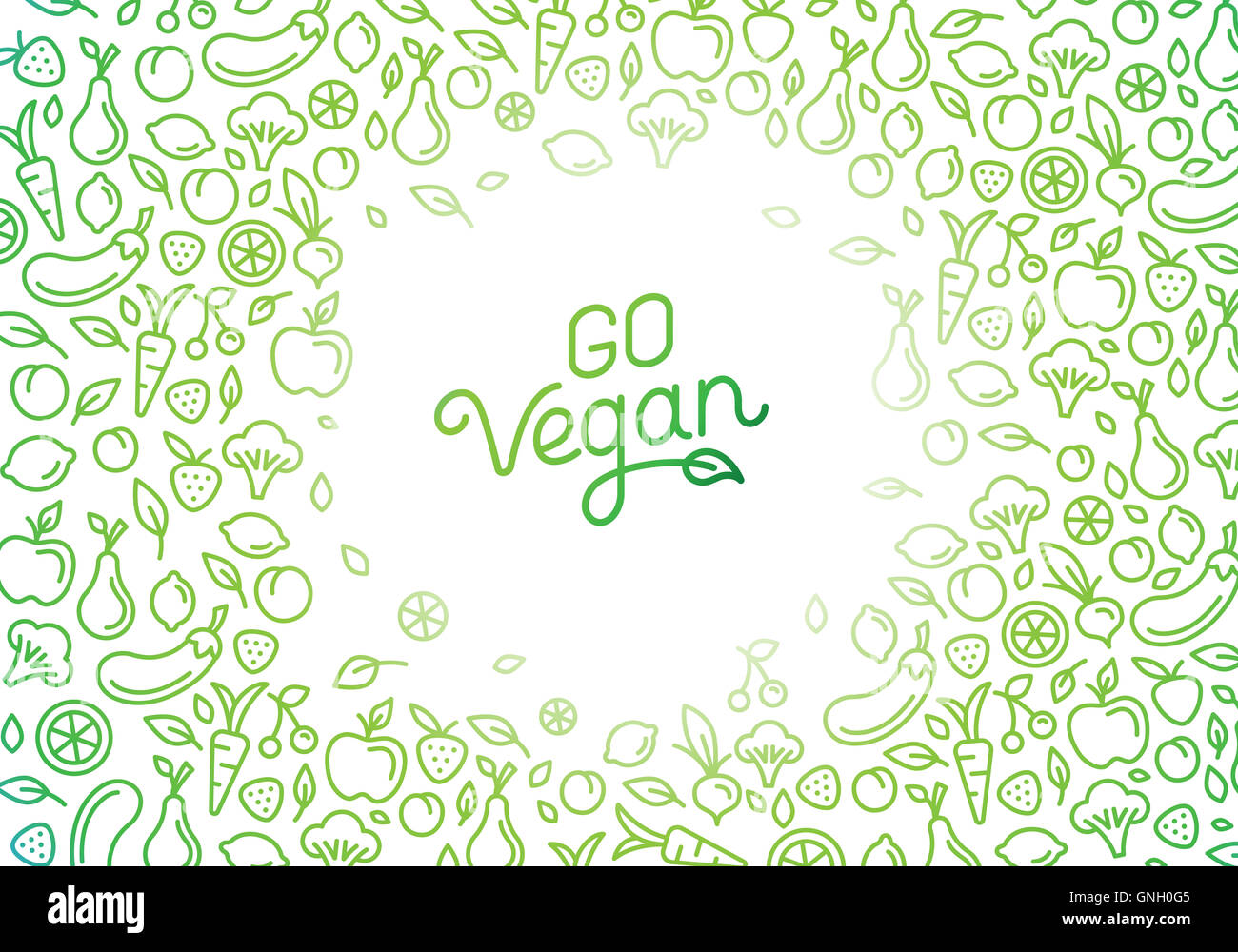 Go Vegan Motivational Poster Or Banner With Hand Lettering Phrase Stock Photo Alamy