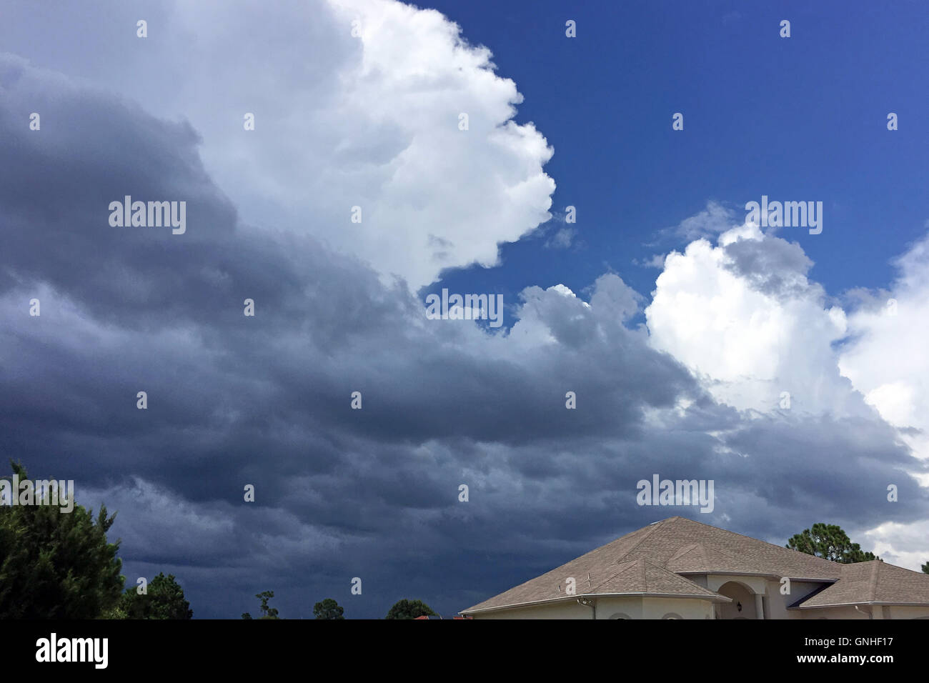 Towering Cumulus cloud over Florida on a July afternoon - Stock Image