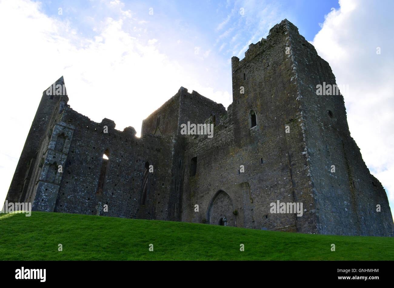 Standing ruins of the Rock of Cashel in Ireland. - Stock Image