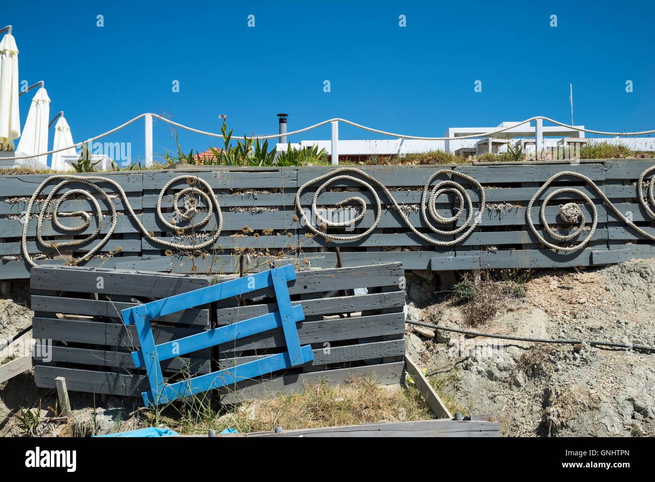 Xi beach, Kefalonia, Ionian Islands, Greece, Europe - Stock Image