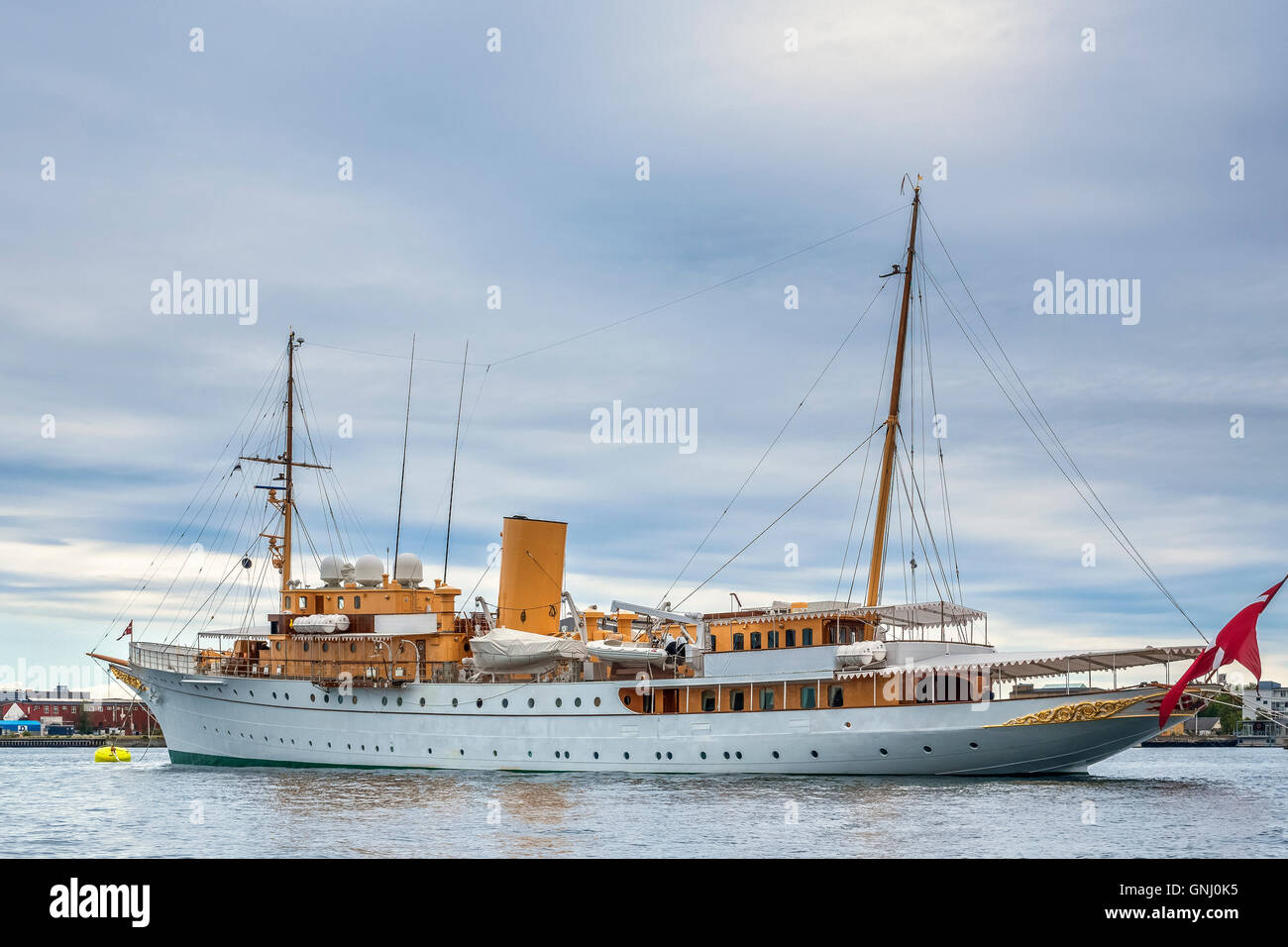 The Royal Yacht Dannebrog Copenhagen Denmark Stock Photo