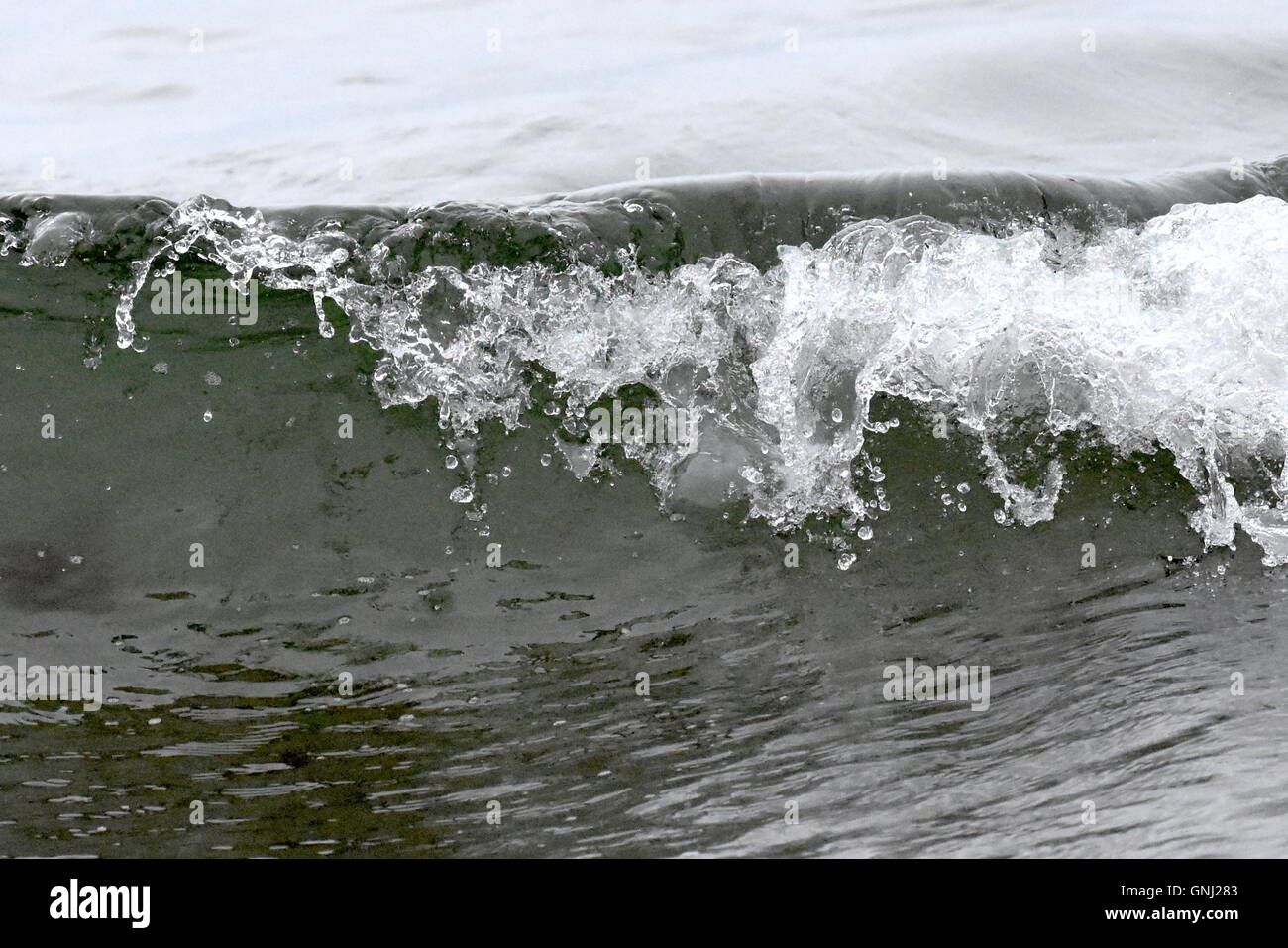 lapping waves in cornwall - Stock Image