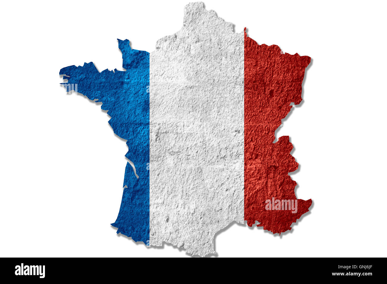 France Map Flag.Map Of France Or French Flag On Rough Texture Stock Photo 116570343
