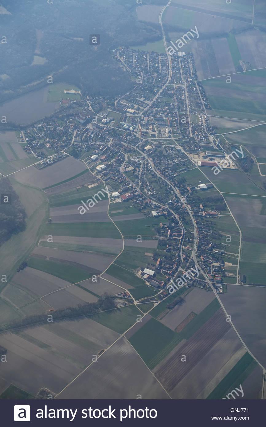 Niederösterreich, Orth an der Donau, Luftbild - Stock Image