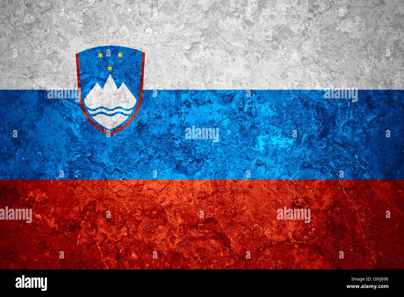 Slovenia Cutting Board Gift Flag Retro Artistic Slovenian Expat Country