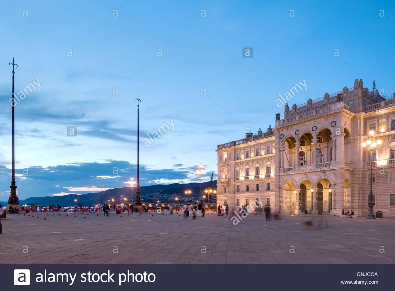 Triest, Piazza dellUnita dItalia, Comune di Trieste - Stock Image